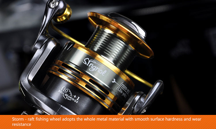 10+1BB Cheap Spinning Reels 1000 2000 3000 4000 5000 6000 7000 Best Saltwater Beach Boat Rock Sea Lure Ice Spinning Fishing Reel  (5)