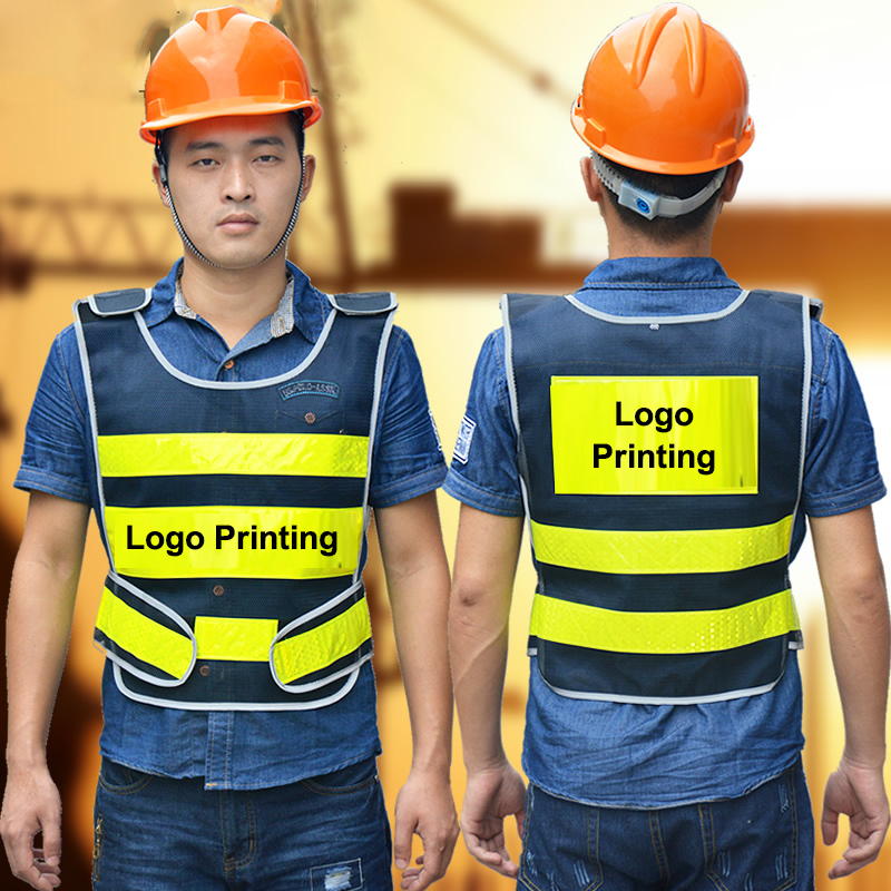Spardwear High Visibility Mesh Reflective Safety Vest Logo Printing Free Shipping Security & Protection Workplace Safety Supplies