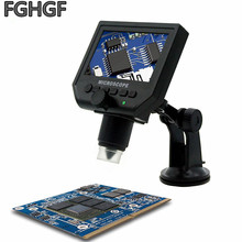 FGHGF G600 Electronic Magnifier 1X-600X Portable Screen Microscope Soldering Watch Repair Digital Microscopy