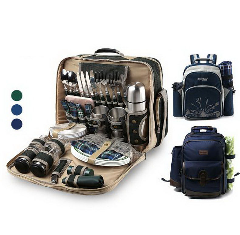 Luxury four people Picnic bag outdoor  travel equipment Multifunction Cutlery Set insulated bag Tourism supplies/tb261004  цены