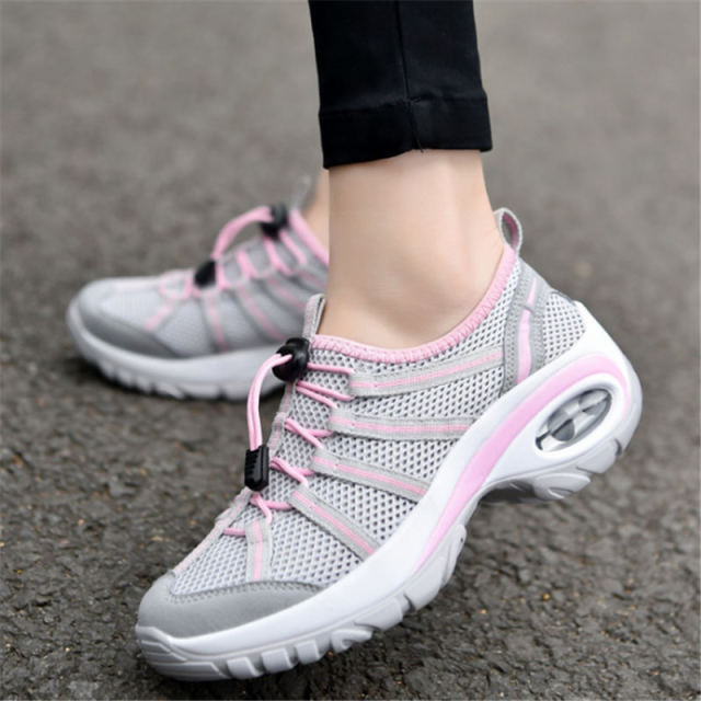 Summer 2018 Sneakers women wedge running shoes for women Sport shoes woman  Air cushion Walking Jogging Breathable Mesh arena 4774cd56b84f
