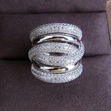 choucong Eternity Jewelry 236pcs Stone 5A Zircon stone 14KT White Gold Filled Women Engagement Wedding Band Ring Sz 5-11