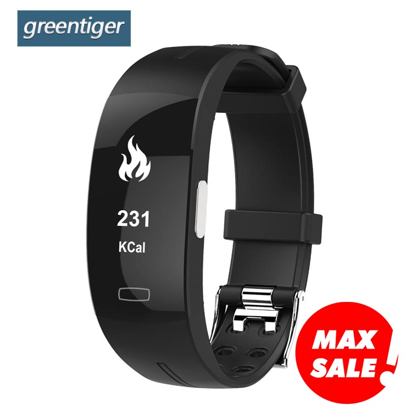 Greentiger P3 Smart Band ECG+PPG Blood Pressure Heart rate Monitor Smart Bracelet IP67 waterproof Pedometer for IOS Android fentorn p3 smart band support ecg ppg blood pressure heart rate monitoring ip67 waterpoof pedometer sports fitness bracelet