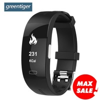 Greentiger P3 Smart Band ECG+PPG Blood Pressure Heart rate Monitor Smart Bracelet IP67 waterproof Pedometer for IOS Android