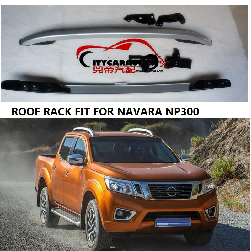 CITYCARAUTO  Decorative Roof Rails FIT For NISSAN NAVARA NP300 Accessories Silver Roof Rails Rack Carrier Bars 2016-2017 teaegg top roof rack side rails luggage carrier for hyundai tucson ix35 2010 2014