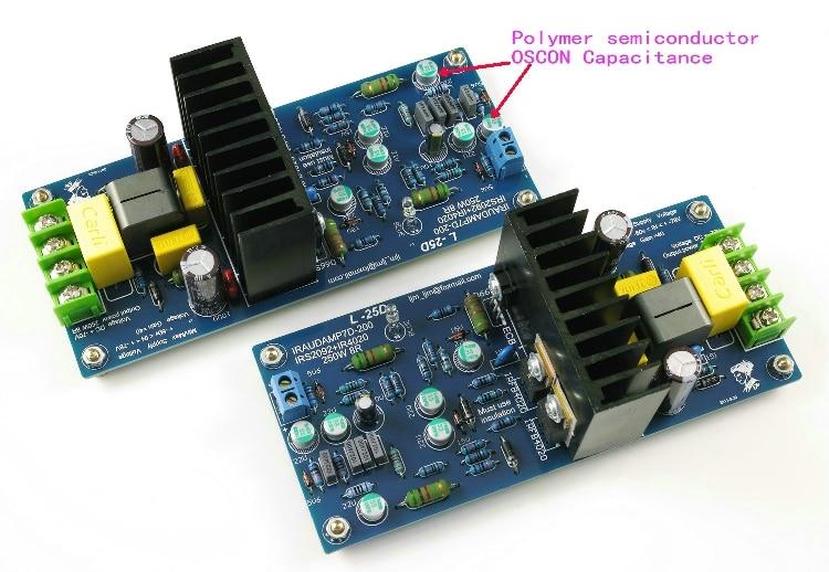 Assembled L25D Stero Power Amplifier board IRS2092 IRFB4020PBF 250W 8ohm