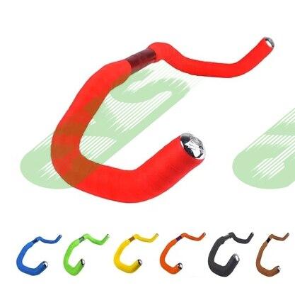 new arrivals track bike handlebars with tape warp fixie fixed gear bullhorn bicycle handle bars racing bike belt bar 390*25.4MM