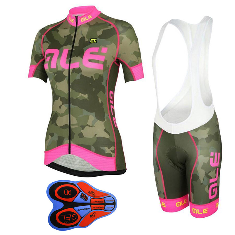 Outdoor Sports Bicycle Cycling Clothing Pant Jersey Suit Sets Women Road Bike Set 2017 Cycling Jersey MTB GEL Padded Shorts