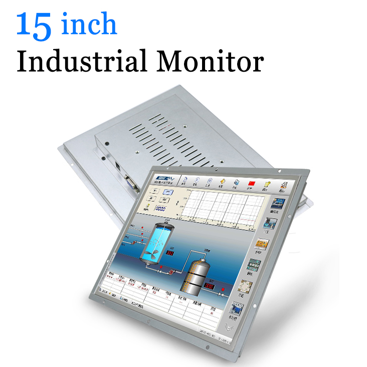 15 inch Open Frame Industrial Metal Case PC LED Monitor with VGA HDMI DVI BNC AV TV-in LCD Monitors from Computer & Office