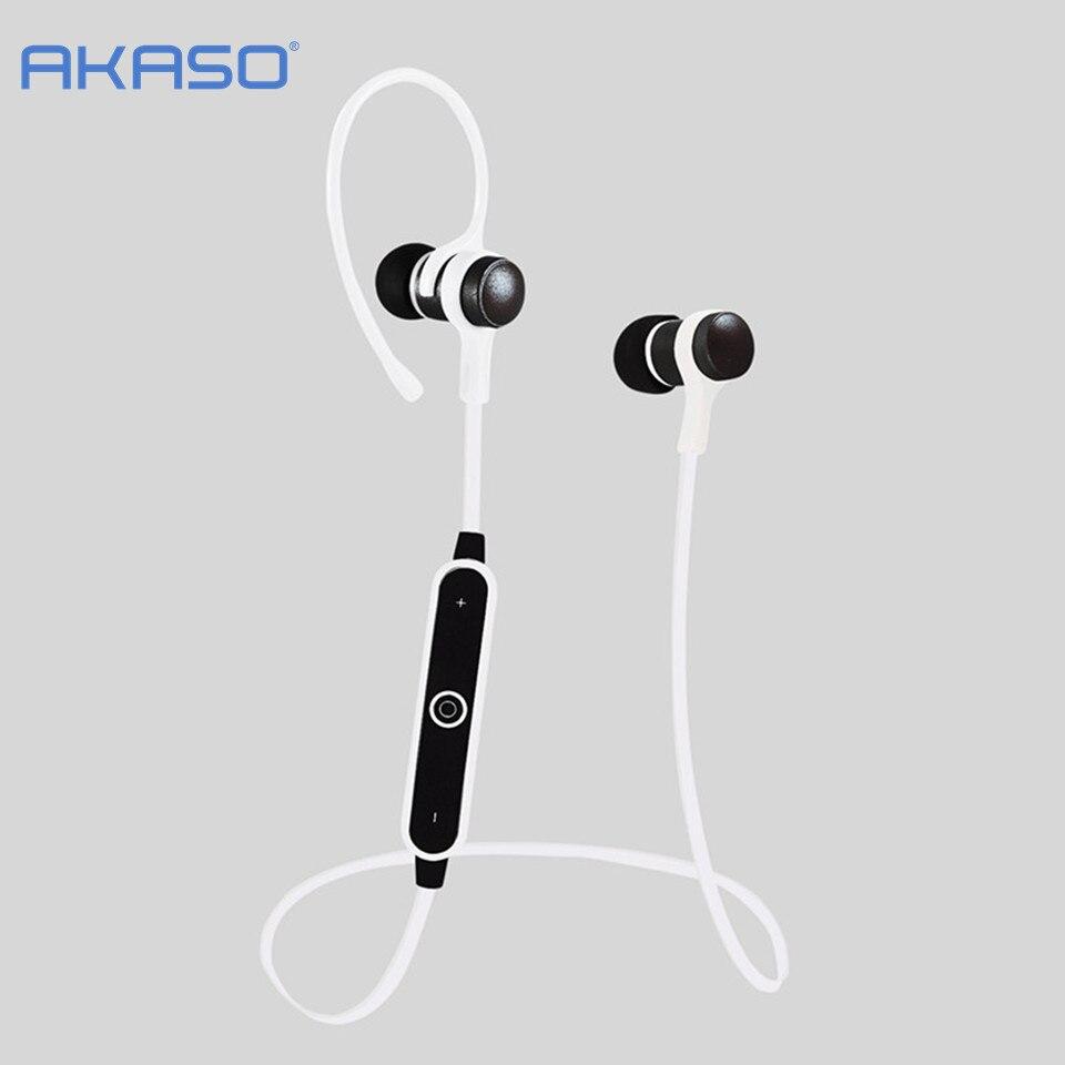 где купить AKASO Metal 4.2 Bluetooth Headphone Wireless Stereo Headset Sport Earhook Earphone with microphone USB Charge fone de ouvido по лучшей цене