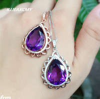 KJJEAXCMY Boutique Jewelry 925 Sterling Silver Inlaid Amethyst Women S Necklace Pendants Wholesale Send Chain