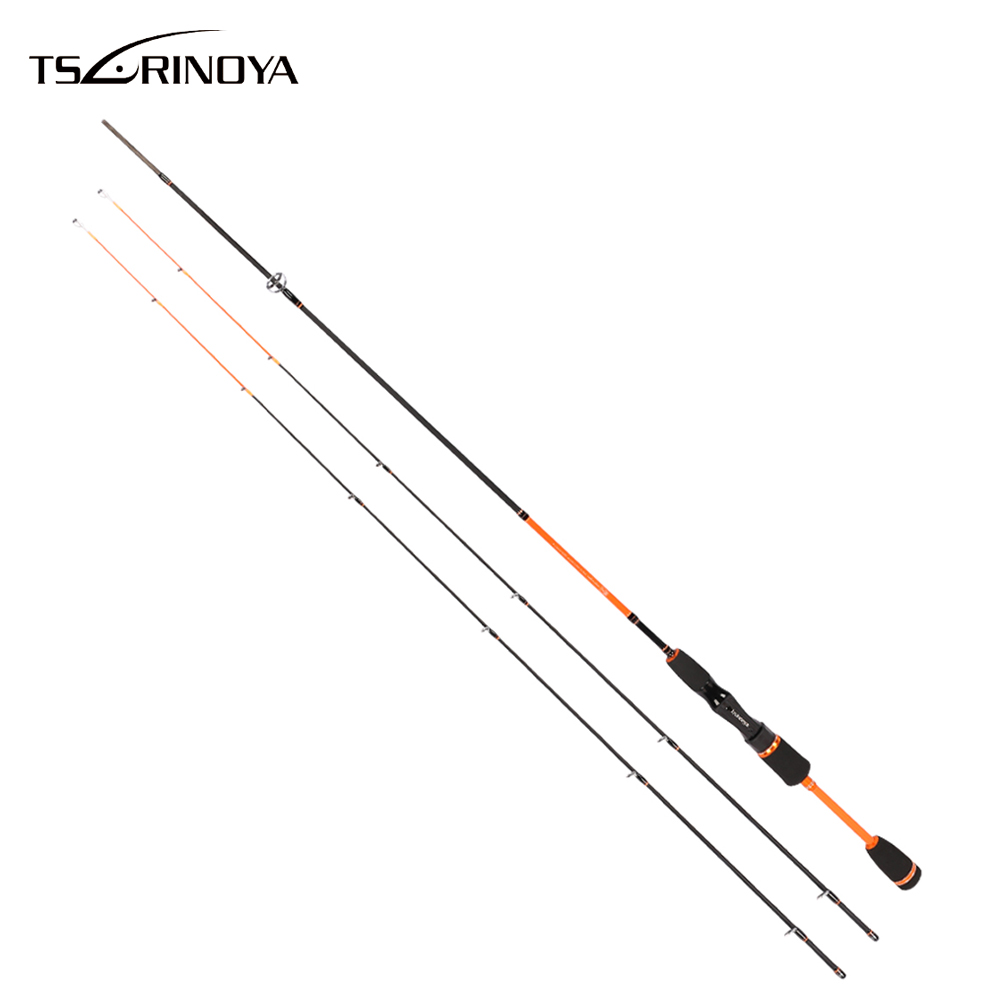 TSURINOYA 1.8M Fishing Rods 2 Section Carbon Fiber Fly Fishing Rod Fish Tackle