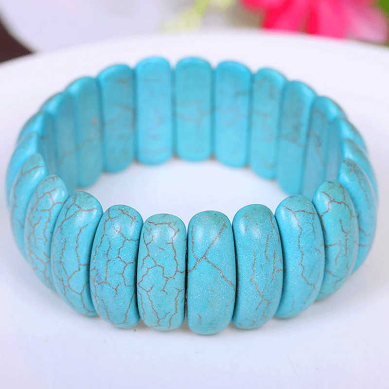 Original New Fashion Handmade Bohemian Natural Stone Bracelets Bangles For Women Boho Wrap Bracelet With Stones Men Jewelry Gift