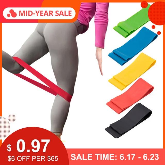 SGODDE Rubber Resistance Bands Yoga Gym Strength Training Equipment Health Elastic Sport Body Latex Belt Body Building Fitness
