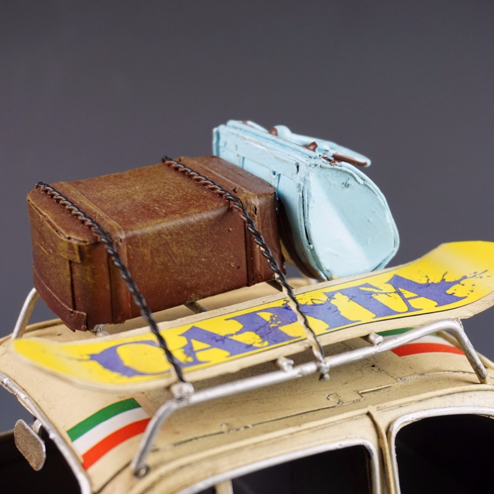 Antique classical car model retro vintage wrought handmade metal ...