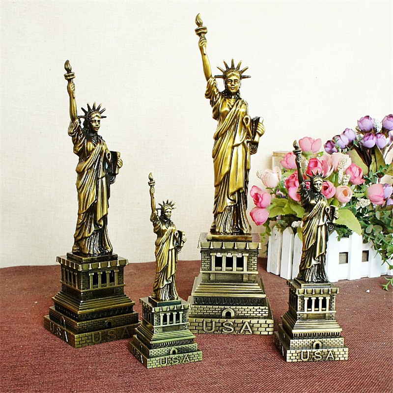 American Statue Of Liberty Model Metal Architectural
