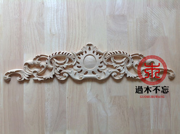 Don't forget the wooden Dongyang wood carving wood trim central Window Decal Decals European door flower bed