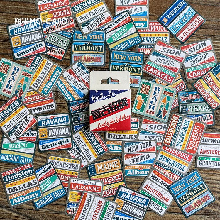 45 Pcs/Pack Creative Poster Diary Stickers Decorative Stationery Craft Stickers Scrapbooking DIY Stick Label