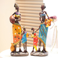 Home Decoration Crafts House Decoration Vintage Room Decoration Smallsweet Resin Folk Art African People Home Decor