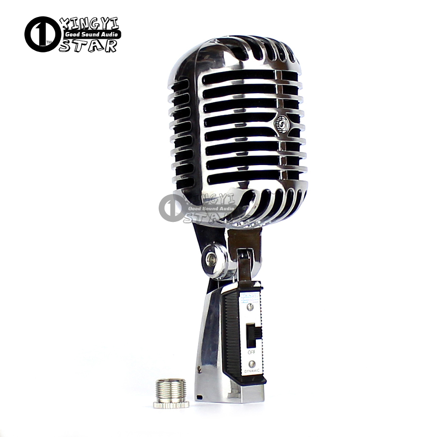 Professional Classical Retro Old Style Vocal Dynamic Wired Microphone Vintage Mic Karaoke Mixer Audio DJ KTV Show Mike Microfone free shipping high quality version sm 58 58lc sm58lc wired vocal karaoke handheld dynamic microphone microfone microfono mic