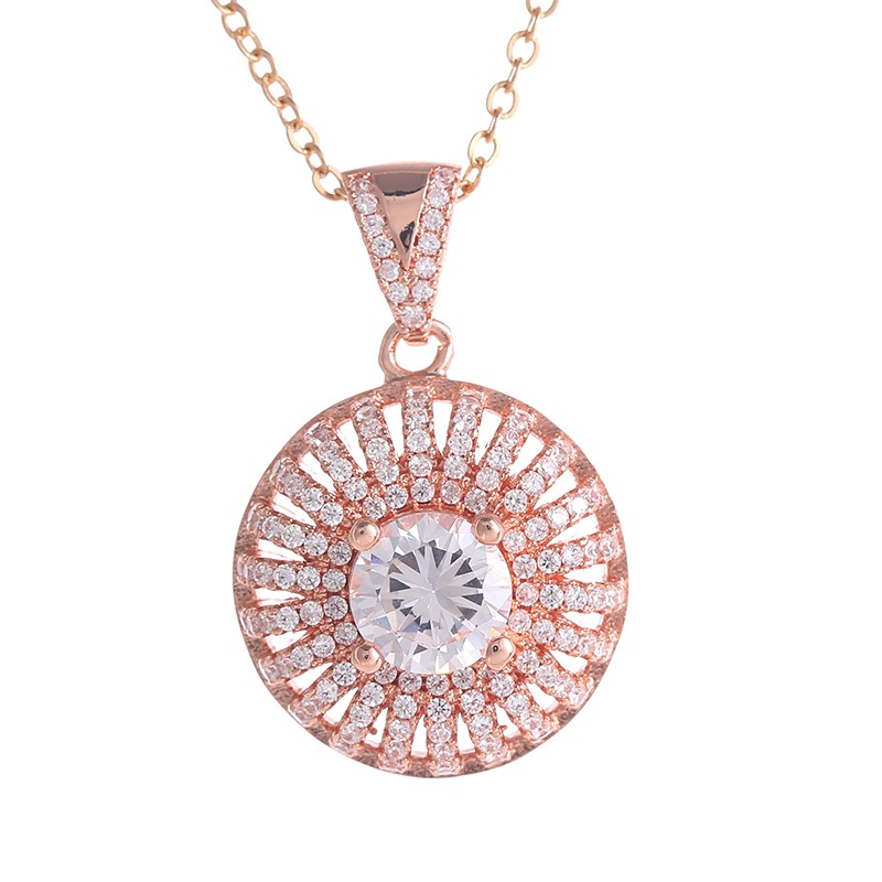 Most Popular Gifts For Women 2016 Part - 18: The Most Popular Fashion Exquisite Round Inlay Crystal Necklace Jewelry For  Women Preferred Three-Color Pendant Necklace Gifts