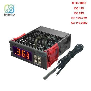 STC-1000 12V 24V 220V LED Digital Thermostat for Incubator Temperature Controller Thermoregulator Relay Heating Cooling Control stc 1000 stc 3000 stc 3008 stc 3018 led digital temperature controller thermostat thermoregulator incubator 12v 24v 110v 220v