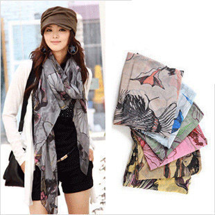 Free shipping new 2015 brand fashion spring autumn winter chiffon Flower print scarves Cotton silk scarf Shawl bandana wholesale
