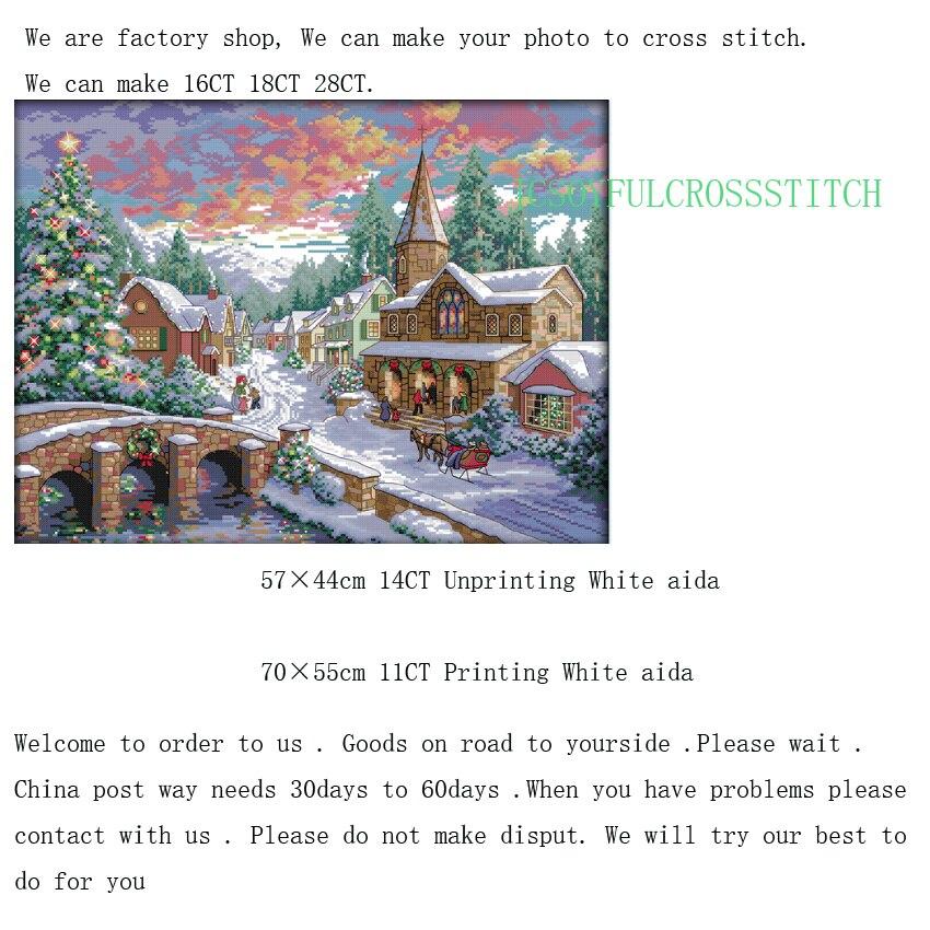 ᐅ1th Snowscape patrones contados puntada de Cruz 11CT 14CT Cruz ...