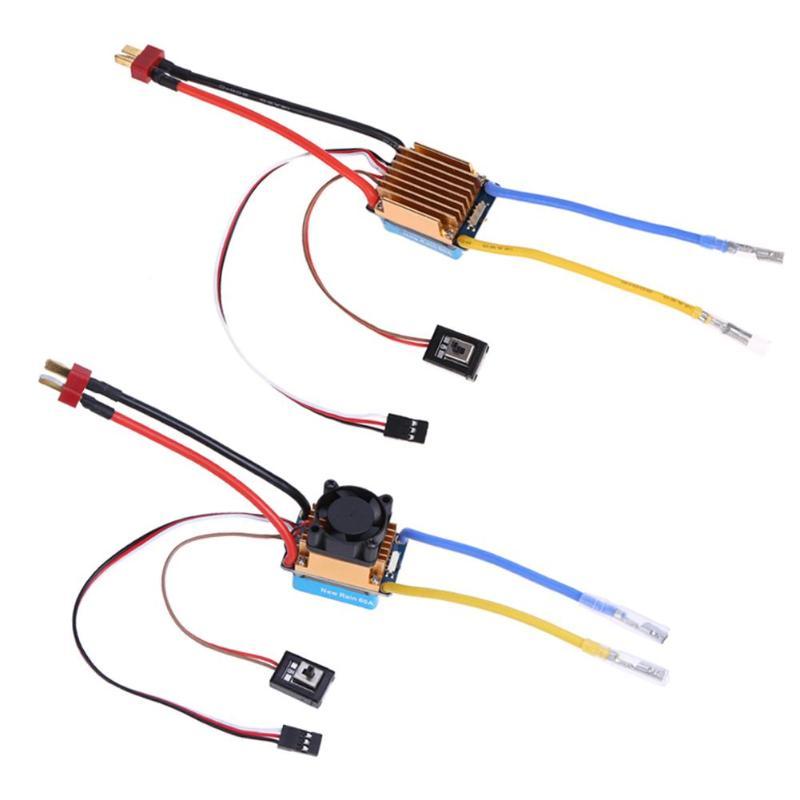 Impermeable cepillado ESC 320A S 3 S con ventilador 5 V 3A BEC controlador de velocidad eléctrica para 1/10 RC coche venta al por mayor Dropship FreeShipping