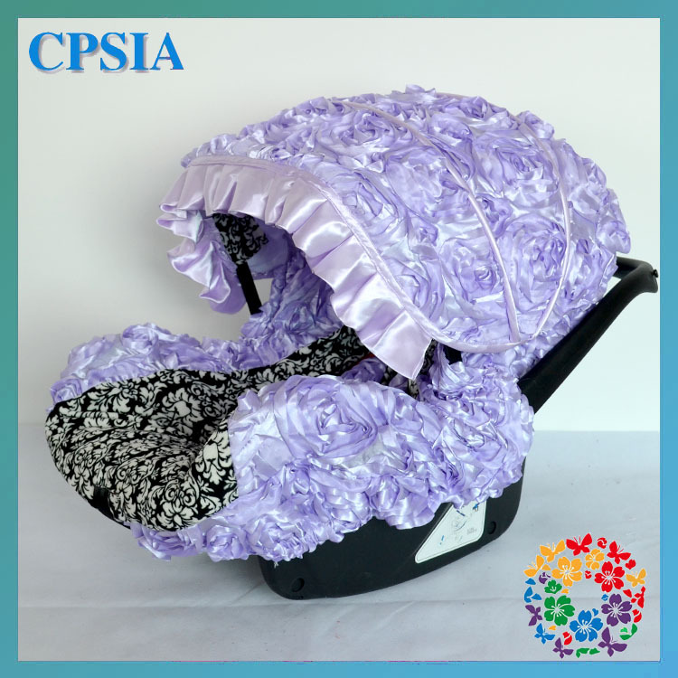 Dhl Free Purple Baby Girl Infant Car Seat Covers Baby Car Seat Slip