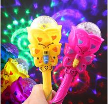 Hot sale 1pcs glow stick Electric projection magic wand Flashing all over the sky star flashing