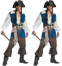 Exit European Uniform 2017 Man Pirate Serve Captain Clothing Halloween Male Fund Game