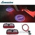 LEVOU Luz de Cortesia Porta Do Carro Bem-vindos Luz 12 V Projetor Para VW Passat B6 B7 Golf 6 7 Jetta MK5 MK6 CC Tiguan Scirocco Acessórios