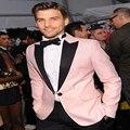 New Design Pink Tuxedos For Men Wedding Groom Suit Men Slim Fit Blazer Designs Men Business Suits Custom
