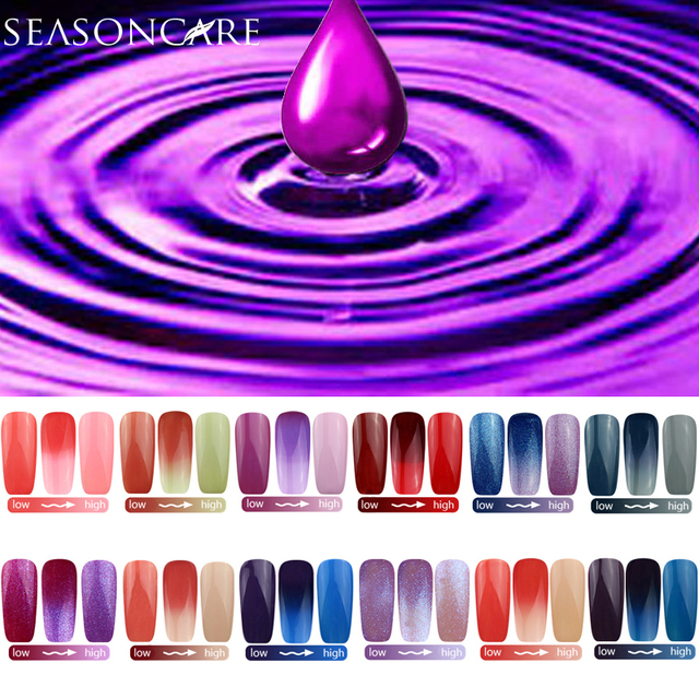 SEASONCARE natural pure Healthy brand-Lavander extracted Temperature Thermal Color Change nail gel DIFFERENCE NON-TOXIC
