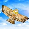 O envio gratuito de alta qualidade 1.8 m de ouro águia pipa com linha de pipa pega jogos pássaro pipa weifang kite chinês voando dragão
