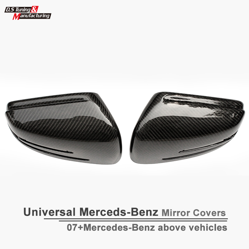 Mercedes couvre w204 w176 w212 w207 w117 x156 w218 couverture de miroir de porte latérale en fibre de carbone pour benz A B C E CLA GLA CLS classe
