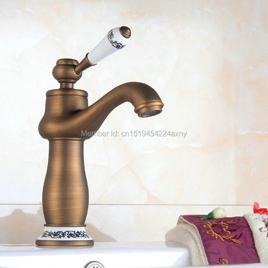 Gizero new antique faucet bathroom basin faucet blue and - White porcelain bathroom fixtures ...