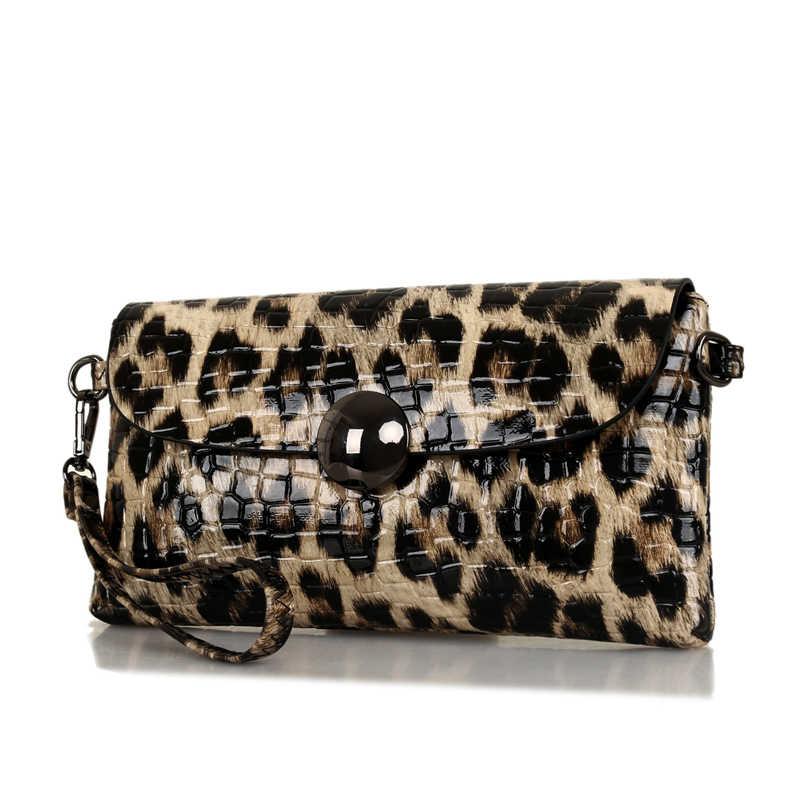 35b2e59ffa70 ... Клатч модный Леопардовый день вечерний клатч сумка спилок кожаный  кошелек бренд цепь вечерний клатч Сумки Женская ...