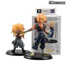 Dragon Ball Z Super Saiyan 3 Son Goku Gotenks PVC Action Figures Collectible 2pcs/set