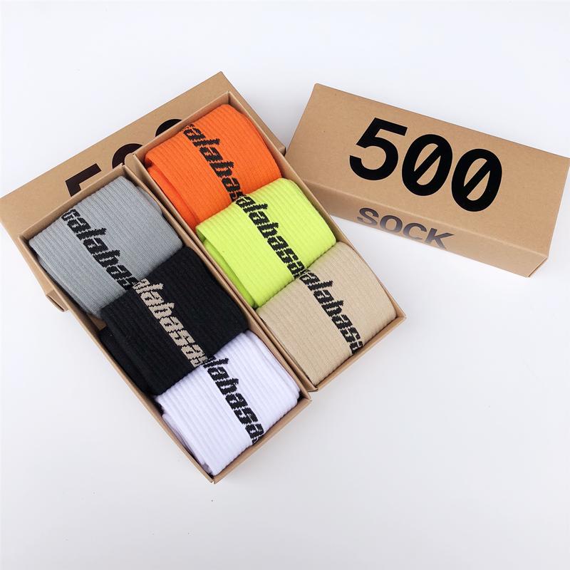 A pair of stylish calabasas fun hip hop skateboard Kanye West   socks   popsocket unisex crew sports cotton   socks