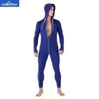 SABOLAY Men zipper cardigan Long Sleeve Surf Top Diving Tops Rashguards Swimsuit Sunscreen Long Pants Swimming Shirt Rash Guard