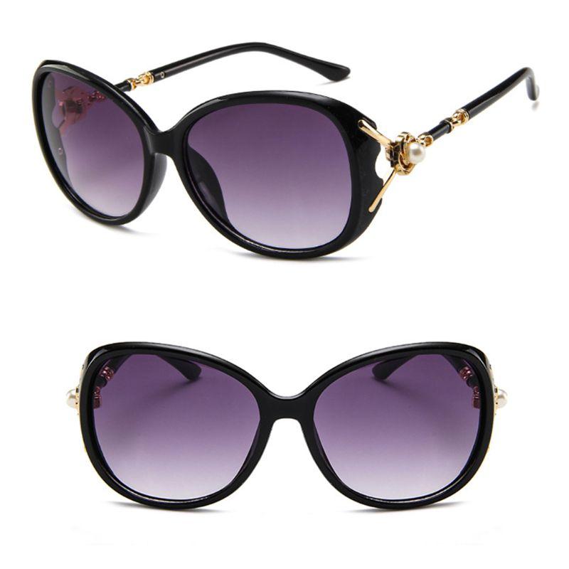 Hot Sale Women Sunglasses Large Frame Fashion Trendy Stylish UV400 Charms Lady Decoration Party Photography Decor Gifts