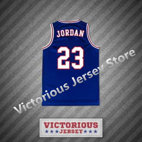 43bb2d351036 Minanser Michael Jordan 23 Space Jam Tune Squad Blue Basketball Jersey Men