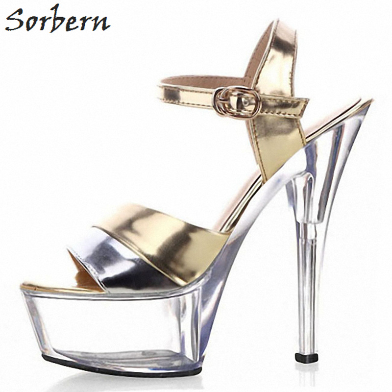 14feaae6d8 Sorbern Fashion See Through Platform Sandals For Women Spike High Heels  Slingbacks Summer Shoe Women Clear Strap Heel Sandals-in High Heels from  Shoes on ...