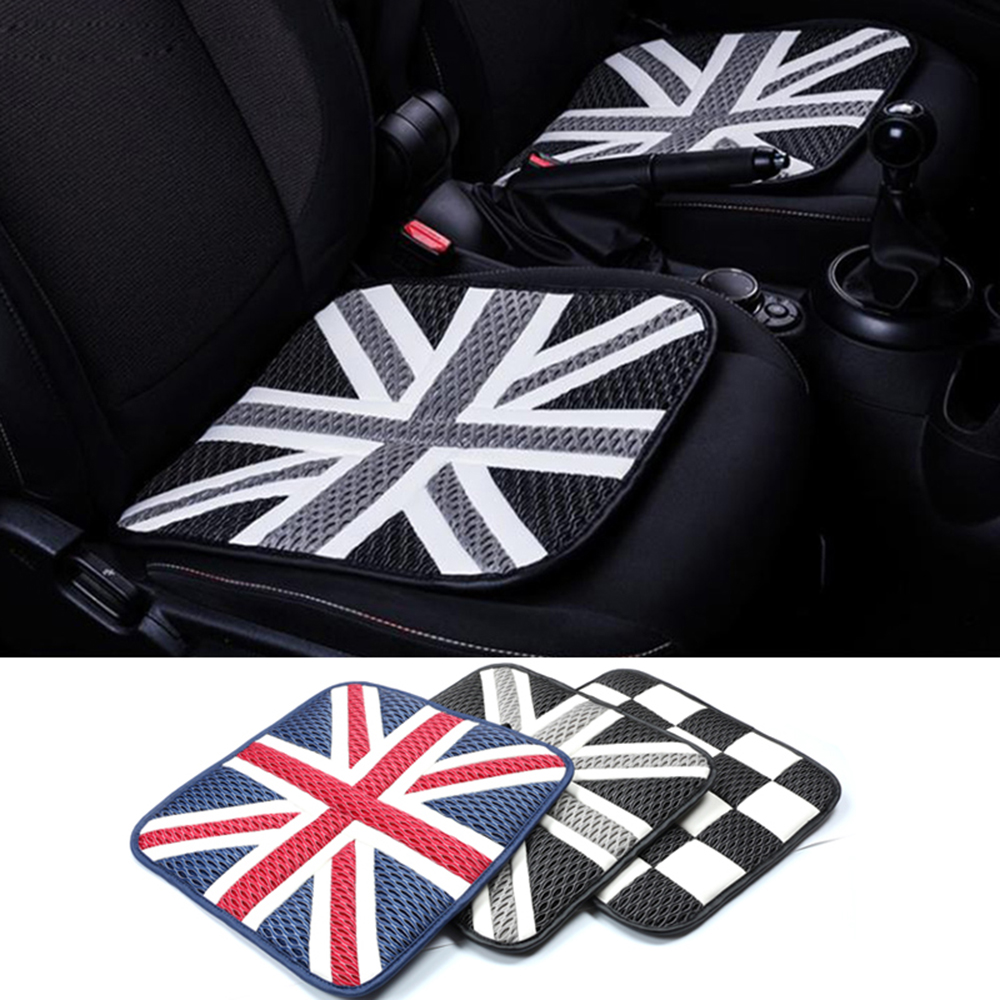 2pcs Ice Silk Car Seat Cushions Mat Pad Covers for Mini Cooper JCW One+ S Countryman Paceman R60 R61 R55 R56 F55 F56 Car Styling цены
