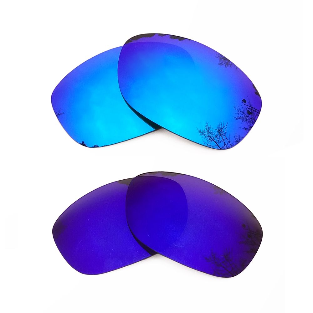 Ice Blue Mirrored & Purple Mirrored Polarized Replacement Lenses for Pit Bull Frame 100% UVA & UVB