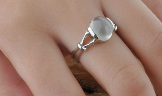 Free Shipping Sz5 9 Twilight Bellas Wedding Ring Sterling Silver