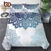 BeddingOutlet Mandala Bedding Set Twin Bohemian Duvet Cover Ethnic Flower Bedclothes Floral Kaleidoscope Bed Set Dropship