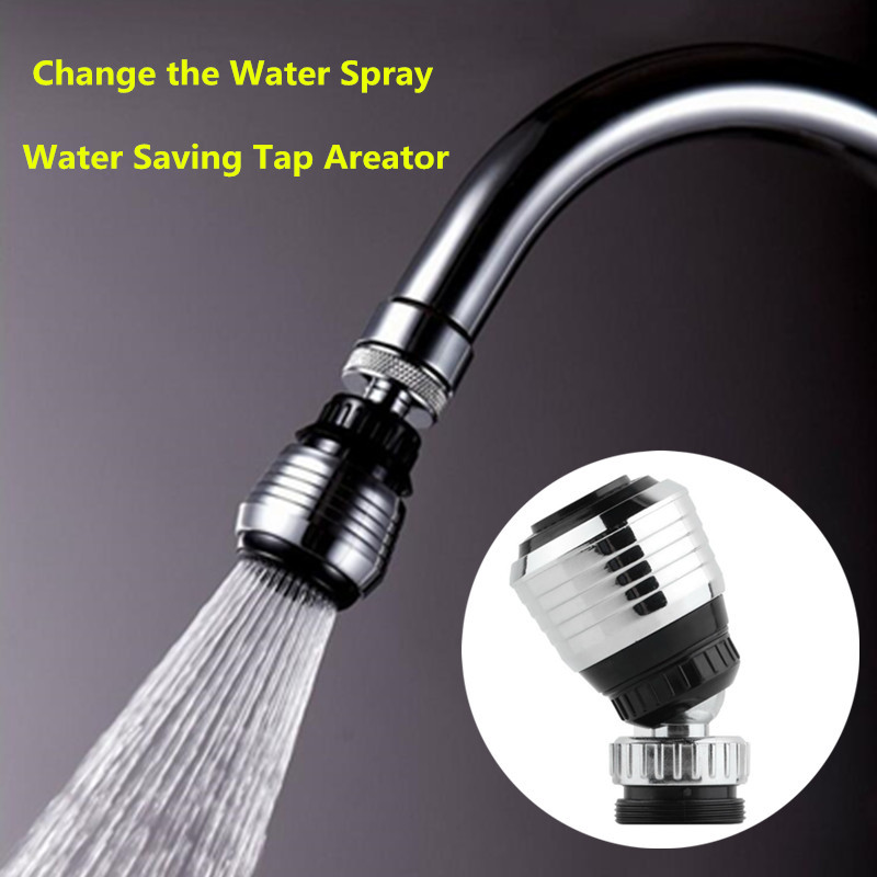 New 360 Shower Swivel Water Saving Tap Aerator Diffuser Faucet Filter Connector Adapter For Kitchen Bathroom accessories
